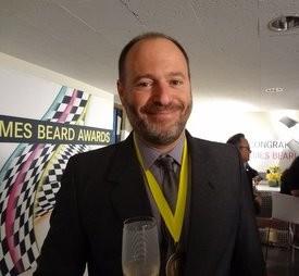 Michael Tusk, wearing his medal. - JAMES BEARD FOUNDATION