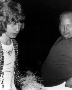 Mick Jagger and the 320-lb. Barry Fey - DAN FONG