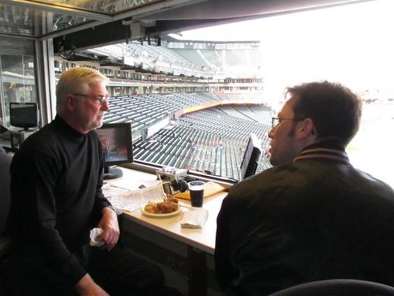 Mike Krukow (left) with your humble narrator - JOHN BOITNOTT