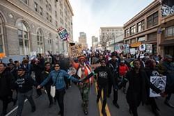 SANTIAGO MEJIA - Millions March in Oakland.