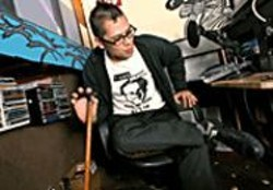 AKIM  AGINSKY - Monkey gets down to business in the lush - studios of Pirate Cat Radio.