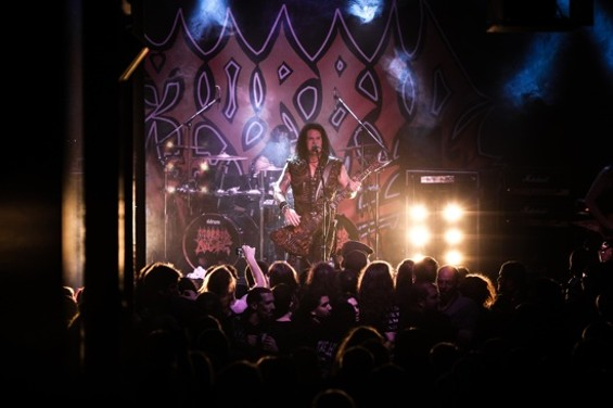 Morbid Angel at Slim's last night. - PHOTOS BY STEVEN CHEW