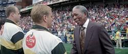 Morgan Freeman plays Nelson Mandela as a dry wit and courtly gentleman.