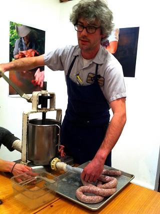 Morgan Maki stuffed 2,000 years of meat history into 2 hours. - SEAN TIMBERLAKE