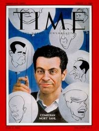 "Mort Sahl on the cover of ""Time"" in 1960"