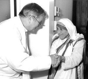Mother Teresa, pictured with Donald McGuire - PHOTO COURTESY TYRONE CEFALU