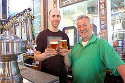 Moylans Brewery owner Brendan Moylan with brewmaster Derek Smith