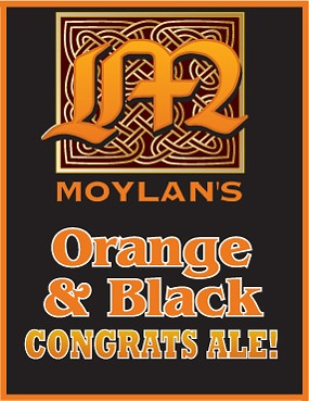 Moylan's Giants tribute beer, a black ale flavored with orange zest.