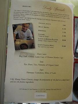 Mr. Pollo's menu. - MSWINE/FLICKR