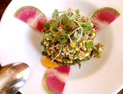 JULIE KRAMER - Mung bean and kale salad