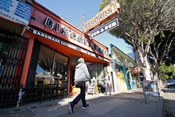 ANNA LATINO - Musicians are fighting to stay in ever-more-expensive San Francisco, where old record stores like this one on 24th Street have been replaced by new restaurants. Much of the city's best new rock music reflects this struggle.