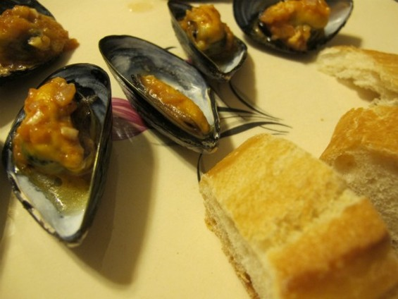 Mussels after