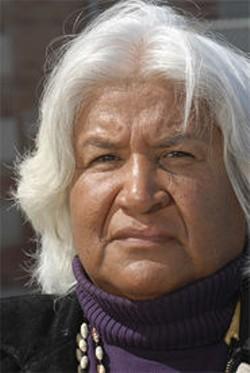 PAOLO VESCIA - Muwekma Ohlone tribal chair Rosemary Cambra.