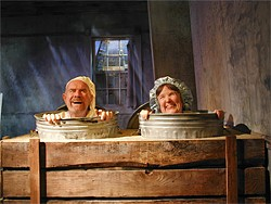 ROB MELROSE - Nagg (Paul Gerrior) and Nell (Maureen Coyne) are happy with their miserable existence.