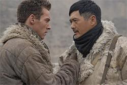 Naive young Brit (Jonathan Rhys Meyers) meets guerrilla who enjoys blowing stuff up (Chow Yun Fat).