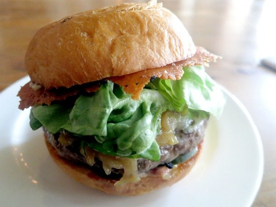 Naked Lunch's superlative burger. - THE DAPPER DINER