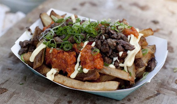 Namu's gamja fries: Fusion, dude. Pure fusion. - JEN SISKA