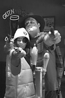 JEFF  FOHL - Natural born killers? Dena Martinez and - Danny Wolohan in The Ballad of Pancho - & Lucy.