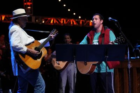 Neil Young and Adam Sandler - CHRISTOPHER VICTORIO