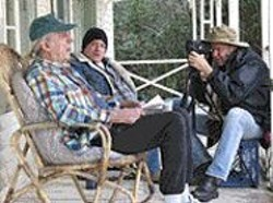 Neil Young filming Grandpa Green (Ben - Keith) and Cousin Jed (Eric Johnson).