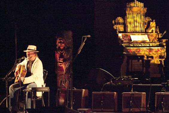 Neil Young performing at the Fox Theater in 2010. - GRETCHEN ROBINETTE