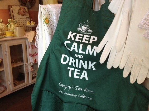New items at Lovejoy's include Keep Calm aprons and totes. - TAMARA PALMER