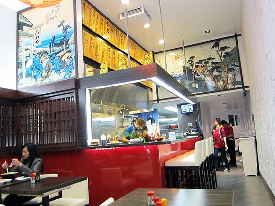 Newly opened Ramen Doraku looks nice, has reasonable prices, and food that's good, if not great. - LUIS CHONG