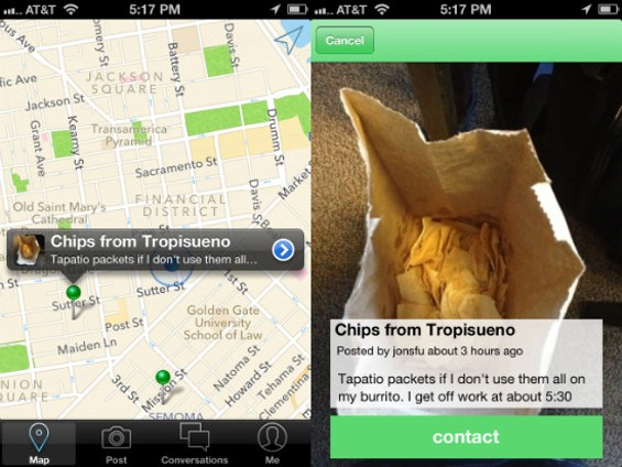 Next time, accept the free chips at the taqueria and join the sharing economy. - LEFTOVERSWAP