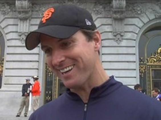 Nice bend on that cap, Mr. Mayor