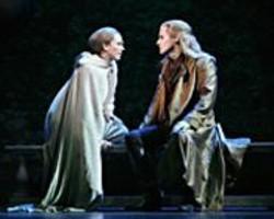 "PAUL  KOLNIK - Nice Outfits: Carolee Carmello (Gabrielle) - and Hugh Panaro (Lestat) sing ""The - Crimson Kiss."""