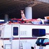 Dog Stands Guard Atop RV