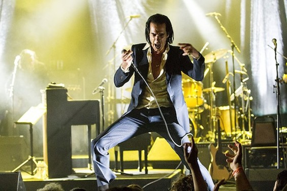 Nick Cave at the Warfield last night. - CHRISTOPHER VICTORIO