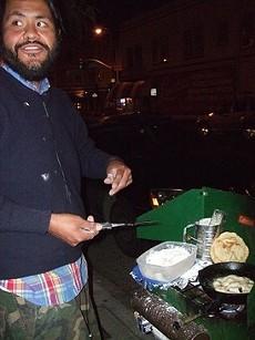 Nightlife munchies-slayer Rocky Yazzie of Rocky's Frybread. - SOPHIA HERNANDEZ