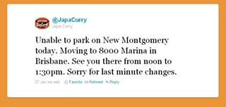 No curry for you: JapaCurry was forced to find a new place to sell last Thursday. - JAPACURRY/TWITTER