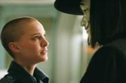DAVID  APPLEBY - No Hair? No Problem: Natalie Portman hangs out with the masked vigilante V (Hugo Weaving).