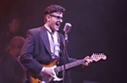 ROBERT  BENGTSON - No, It's Not a Young Elvis Costello: Travis Poelle as - Buddy Holly.