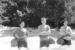 PETER  MOUNTAIN - No Skipper, No Gilligan: Virginie Ledoyen, Leonardo DiCaprio, and Guillaume Canet in The Beach.