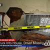 Pickup Truck Crashes Into House Then Leaves