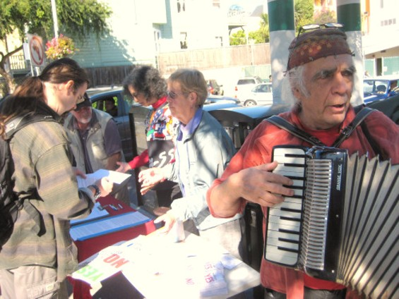 POLITE ADVOCATES FOR UNIVERSAL HEALTH, WITH ACCORDIAN.