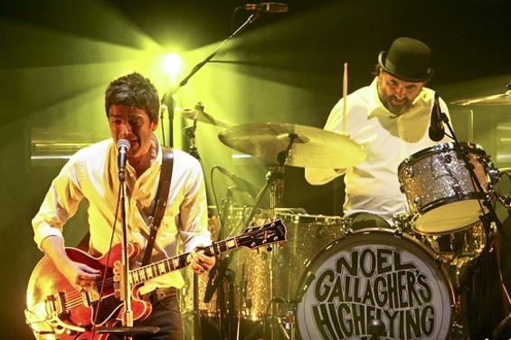 Noel Gallagher's High Flying Birds at the Orpheum Theatre on Saturday night. - CHRISTOPHER VICTORIO