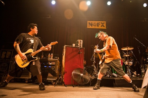 NOFX at the Fillmore on Friday. - RICHARD HAICK