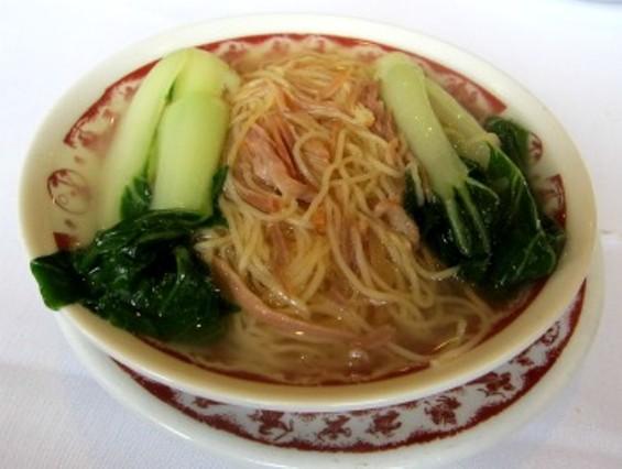 Noodles in ham broth