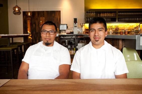 Nopalito's co-chefs, Jose Ramos (left) and Gonzalo Guzman. - ALANNA HALE