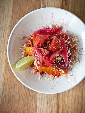 Nopalito's salad of beets and oranges. - ALANNA HALE