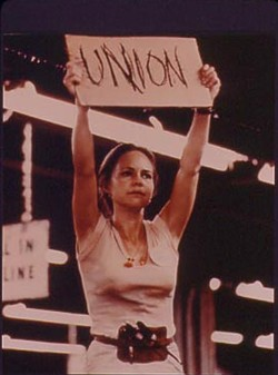 Norma Rae did not craft San Francisco prisoners' jumpsuits