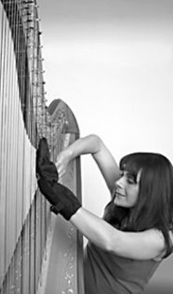 RELYA  PENEZIC - Nothing gets between Victoria Jordanova - and her harp.