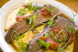 LARA HATA - Nothing like braising for 12 hours to bring out the tenderness.