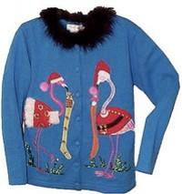 """Nothing says """"Christmas!"""" like flamingos."""