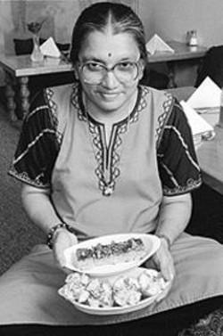 ANTHONY  PIDGEON - Oasislike Ambience: Chef Sunila offers Gujarat appetizers.
