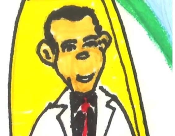 Obama in a lab coat? In Geussian form